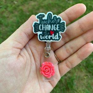 Teachers Change the World Badge Holder